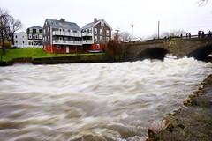 Local Flood (Heidi Hope) Tags: ri bridge storm rain river flooding closed flood historic rhodeisland warwick overflow villiage pawtuxet cranston heidihopephotography recordflood heidihope httpwwwheidihopecom httpwwwheidihopeblogspotcom