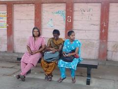 Waiting for the train (Rexfree_99) Tags: flowers india church traffic madras transportation temples chennai stthomas gopurams marketscenes