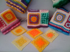 BrendaS2 Thank you so much! Look at these bright wacky Squares Ladies! Come from the South of England. Put your sunglasses on! The Squares on the Blankets are some othes of Brenda's!