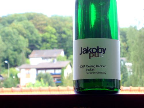 Jakoby pur 2007 Riesling Kabinett trocken Kinheimer Hubertuslay 002