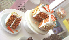 Spiced Carrot Cake with Chopped Walnuts (1/12 scale)