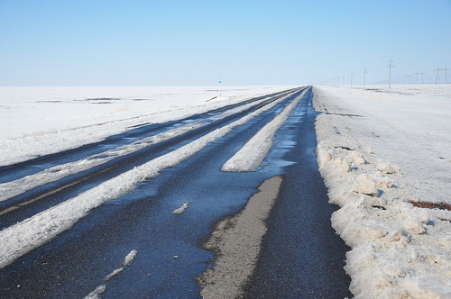 Well maintained Kazakh Roads