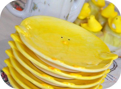 Easter chicky plates