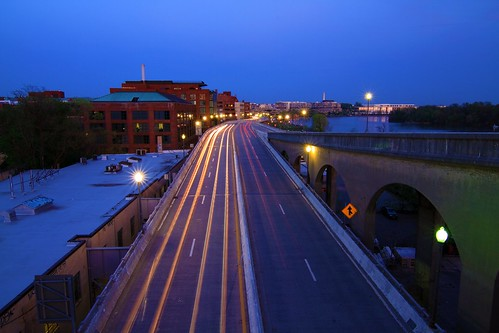 Whitehurst Freeway at Twilight