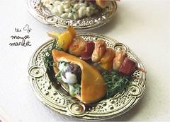 Falalfel and Chicken Kebab (1/12 scale)