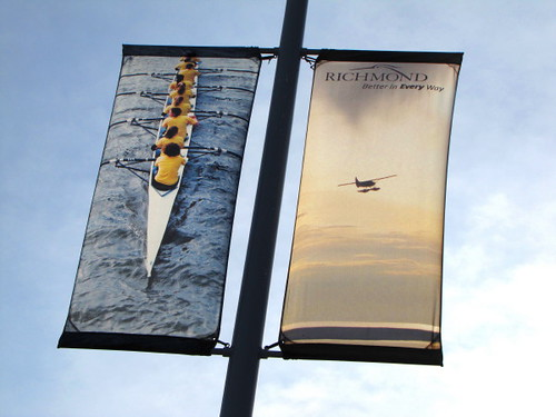 New street banners at the Richmond Olympic Oval
