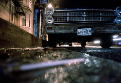 (patrickjoust) Tags: auto street city urban usa color classic ford film car rain night analog america self 35mm vintage dark lens ed us md nikon focus automobile long exposure fuji nps scanner united patrick maryland ground rangefinder olympus baltimore v vehicle after states manual xa avenue expired joust timer range finder f28 hampden fairlane selftimer estados the 160 fujicolor zuko c41 unidos 36th autaut patrickjoust