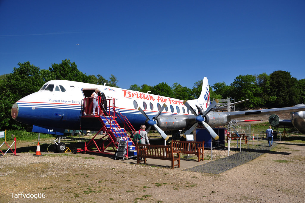 British Air Ferries Viscount Stephen Piercey Vickers Viscount At Brooklands
