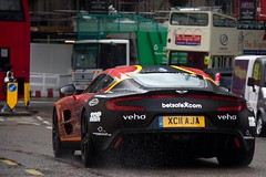 Unleashed on the Streets. (Alex Penfold) Tags: auto camera red orange black london cars alex sports wet water car rain sport mobile canon garden photography eos one photo cool flickr martin image awesome flash rally picture super spot spray exotic covent chrome photograph spotted hyper aja 3000 77 supercar aston spotting gumball matte numberplate exotica sportscar sportscars supercars penfold gumball3000 spotter 2011 xc11 hypercar 60d hypercars one77 alexpenfold xc11aja