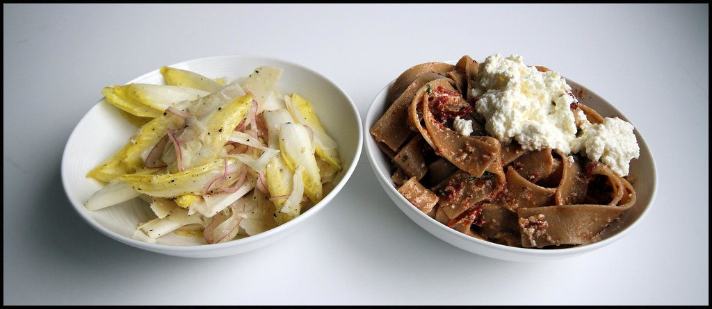 Chez Summers - Fresh Ricotta Cheese Pasta and Endive Salad