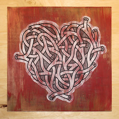 Valves (Andy Gosling) Tags: art painting paint acrylic heart pipes tube tubes pipe twist artery valves weave arteries plywood twisty aorta emulsion intertwine andygosling essexartists