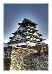Osaka Castle (Haris Bahrudin) Tags: building castle japan architechture nikon traditional osaka hdr d80