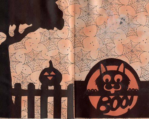 Halloween Altered Book Spread