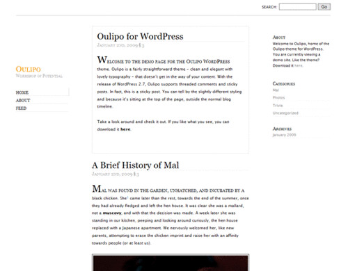 Oulipo-Wordpress-Typography-Theme-Demo
