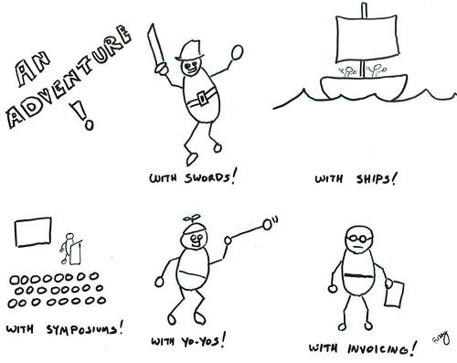 366 Cartoons - 259 - An Adventure