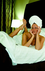 23 (insatiable73) Tags: silly cute green wonder towel fresh holidayinn thepose 365days insatiable73