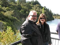 Marko and Liz at Huka Falls (Mark and Lizzy) Tags: harley wellington hog labourday