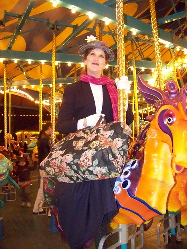 Mary Poppins on the carousel