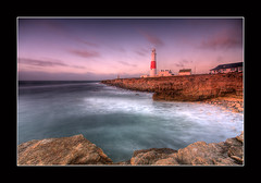 Portland-Bill_IMG_8846_tonemapped (derek3755) Tags: lighthouse seascape water clouds sunrise rocks waves dorset hdr portlandbill jurassiccoast 5x derekdaniel platinumpeaceaward