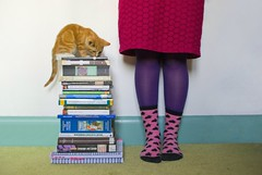 The Cutest Reading List (evilibby) Tags: pink green feet socks foot book purple legs leg books libby 365 barney textbooks readinglist bookstack stackofbooks bookpile pileofbooks 365days 3652 barnabee universitybooks feetandbooks booksandfeet