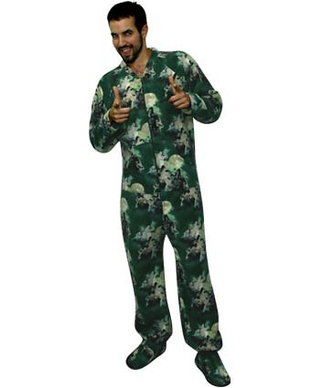 Official Three Wolf Moon Adult Footed Pajamas