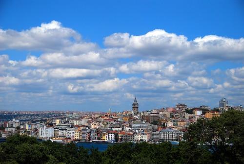 view of beyoglu from topkapi palace, istanbul