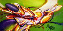my piece (mrzero) Tags: art wall effects graffiti 3d paint hungary eger tunnel spray colored graff aerosol cfs mrzero