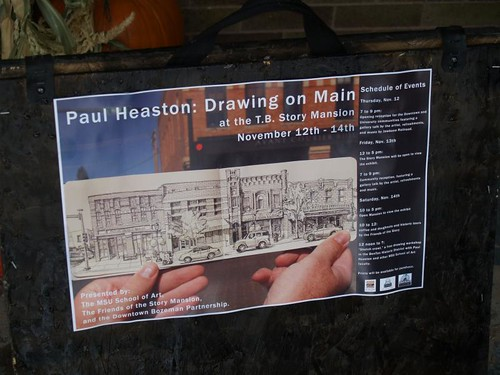 "story mansion exhibit ""Drawing on Main"""