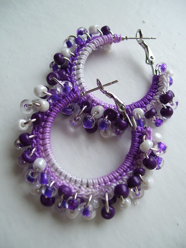 Bohemian purple hoops