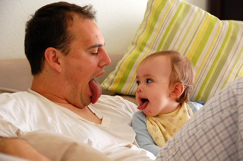 Em's got Daddy's tongue