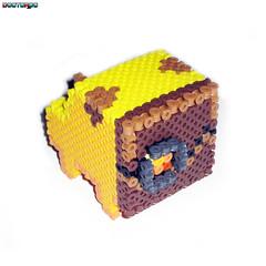 FLCL Takkun Robot 3-D Bead Sprite (Back) (Doctor Octoroc) Tags: dog beads 3d sprite bead hama perler flcl takkun nabbi photopearls beadsrpites