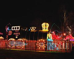 Simcoe Christmas Panorama 6 of 7 (Ivan Sorensen | www.ivansorensenphotography.com) Tags: christmas reflection train fence lights nikon colorful natural bright sparkling slope