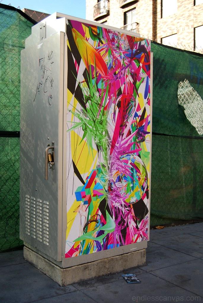 Digital Street Art Wheat Paste - Down Town Oakland, California.