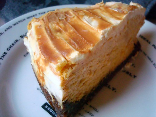 Say Cheesecake: Pumpkin Cheesecake with Caramel Swirl and Gingersnap ...