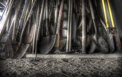 Tools Of The Trade (Terry G Alexander) Tags: barn work garage tools handheld shovel hdr highdynamicrange handtools photomatix