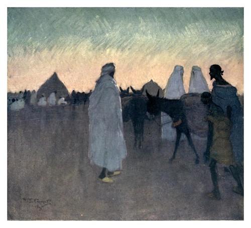 010-Amanecer en la llanura marroqui-Morocco 1904- Ilustraciones de A.S. Forrest