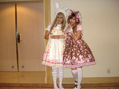 Only standing full shot of us together x3;; (lapinlapin) Tags: lolita 2009 pmx pacificmediaexpo angelicpretty