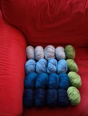 My new yarn stash (Little Tin Bird) Tags: ripple yarn rowan debbiebliss cashmerino cashsoft