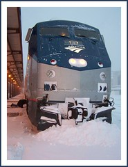 There's snow gettin outa here (Loco Steve) Tags: california christmas railroad travel snow color colour train geotagged photo yahoo delay nebraska day snowstorm rail railway amtrak photograph fromthetrain omaha jpg orkut jpeg  2009 christmasday   omahanebraska californiazephyr    flickrivercom snowdelay flickrhivemind taggalaxy iloveamtrak amtrakcaliforniazephyr amtraksnowdelay amtrakdelay snowomahanebraska omahatraindelays amtrakbreakdown stuckinsnowontrain snowdriftdelaystrain amtraksnowstorm amtraktopshots