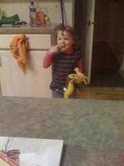 """Amelia and """"Snail"""" the Banana Slug"""