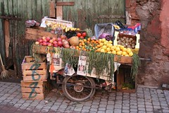 Fruits vendors around the city of Marrakech