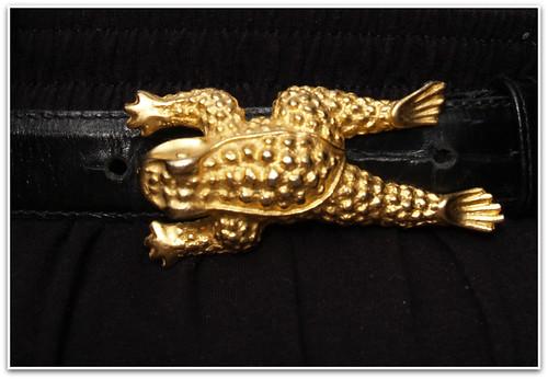 frog belt detail