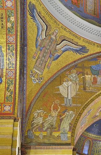 Cathedral Basilica of Saint Louis, in Saint Louis, Missouri, USA - mosaic of angel under dome 1