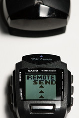 REMOTE SEND (placenamehere) Tags: ir watch infrared wristcam nikon105mmf28 2220 wristcamera datatransfer casiowqv1