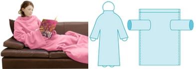 袖つきブランケット 毛布