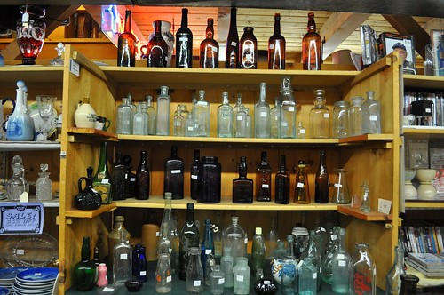 Old Bottles for Sale at Antique Mall in Vermont