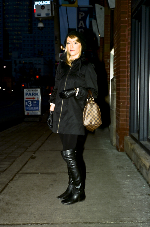 Black Boots, Toronto Street Fashion @ Richmond St. W., Toronto