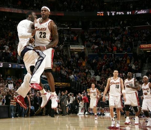 LeBron groin shot