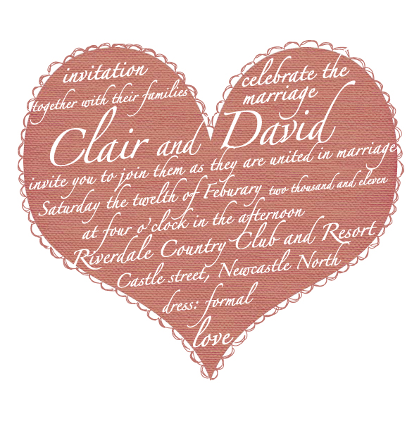 etsy store this beautiful heart and script design wedding invitation