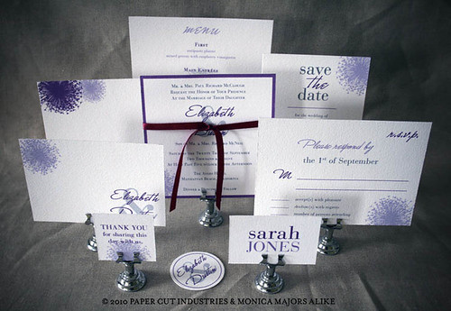 Purple Reign Wedding Invitations Suite